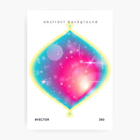 Music flyer. Electronic sound. Night lifestyle dance holiday. Fluid holographic gradient shape and line. Modern cover design for house club. Music flyer and poster for summer fest.