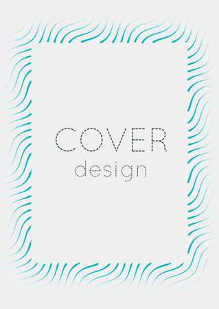 Gradient cover template. Minimal trendy layout with halftone. Futuristic gradient cover template for banner, presentation and brochure. Minimalist colorful shapes. Abstract business illustration Vectores