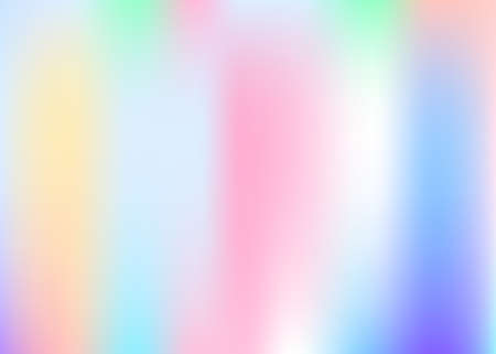 Gradient mesh abstract background. Multi color holographic backdrop with gradient mesh. 90s, 80s retro style. Iridescent graphic template for brochure, flyer, poster design, wallpaper, mobile screen.