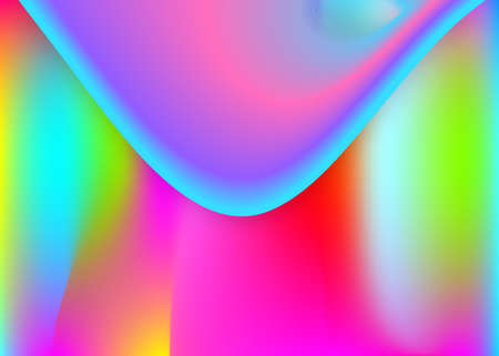 Fluid dynamic. Molecular poster, invitation frame. Holographic 3d backdrop with modern trendy blend. Vivid gradient mesh. Fluid dynamic background with liquid shapes and elements. Çizim