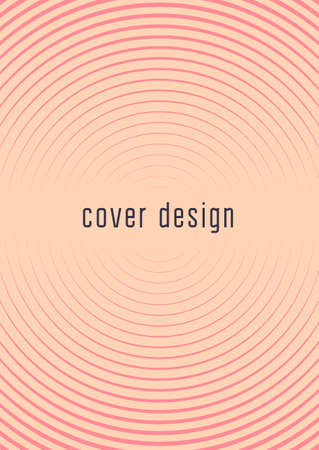 Gradient cover template. Minimal trendy layout with halftone. Futuristic gradient cover template for banner, presentation and brochure. Minimalistic colorful shapes. Abstract business illustration Çizim