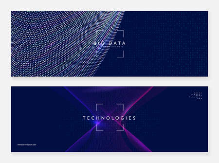 Deep learning concept. Digital technology abstract background. Artificial intelligence and big data. Tech visual for storage template. Modern deep learning backdrop.