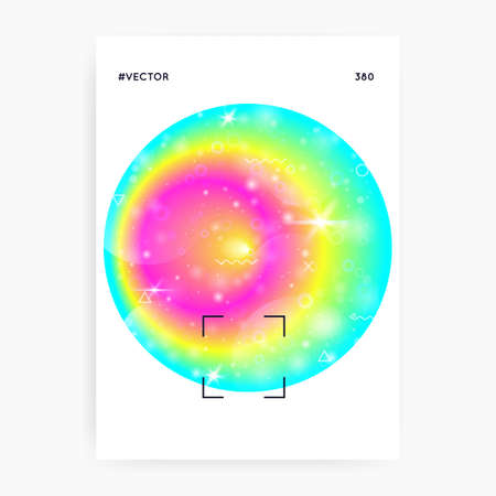 Summer music. Fluid holographic gradient shape and line. Bright magazine design for house club. Electronic sound. Night lifestyle dance holiday. Summer music fest poster and flyer.