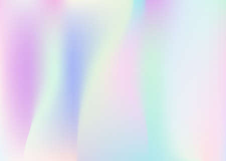 Gradient mesh abstract background. Multicolor holographic backdrop with gradient mesh. 90s, 80s retro style. Iridescent graphic template for brochure, banner, wallpaper, mobile screen.