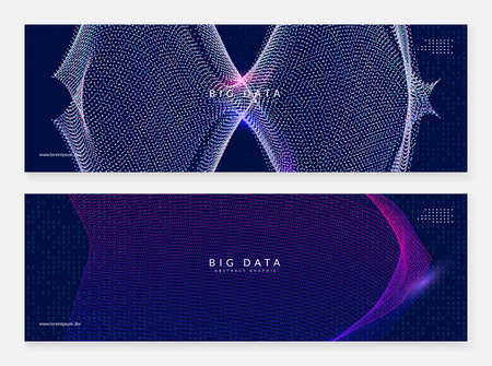 Artificial intelligence. Abstract background. Digital technology, deep learning and big data concept. Tech visual for server template. Vector artificial intelligence backdrop. Stock Illustratie