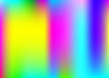 Hologram abstract background. Multicolor gradient mesh backdrop with hologram. 90s, 80s retro style. Iridescent graphic template for banner, flyer, cover design, mobile interface, web app. Stockfoto - 157838841