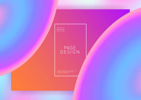 Liquid fluid. Holographic 3d backdrop with modern trendy blend. Business mobile, screen frame. Vivid gradient mesh. Liquid fluid with dynamic elements and shapes. Landing page.