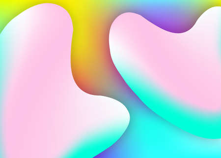 Fluid background. Vivid gradient mesh. Holographic 3d backdrop with modern trendy blend. Magic certificate, presentation design. Fluid background with liquid dynamic elements and shapes. Stockfoto - 157839082