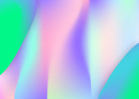 Fluid background. Minimal wallpaper, invitation composition. Vivid gradient mesh. Holographic 3d backdrop with modern trendy blend. Fluid background with liquid dynamic elements and shapes.