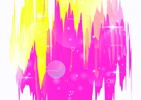 Future landscape with holographic cosmos and abstract universe background. Neon mountain silhouette with wavy glitch. 3d fluid. Futuristic gradient and shape. Memphis future landscape.