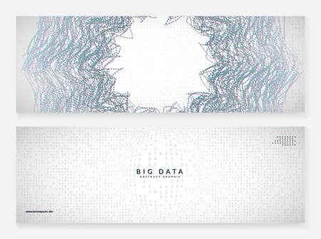 Big data background. Digital technology abstract concept. Artificial intelligence and deep learning. Tech visual for cloud template. Partical big data background.