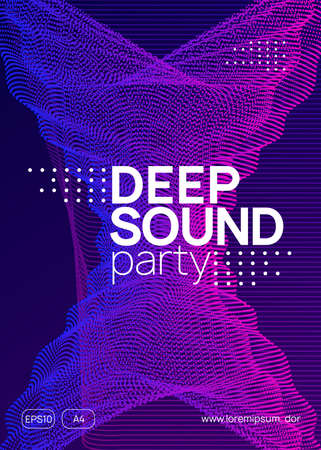 Dj event. Modern show invitation concept. Dynamic gradient shape and line. Dj event neon flyer. Techno trance party. Electro dance music. Electronic sound. Club fest poster.