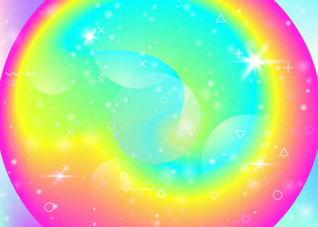 Fluid dynamic background with vibrant rainbow gradients. Dynamic hologram. Holographic cosmos. Graphic layout for wallpaper, mobile screen and presentation. Trendy fluid dynamic.