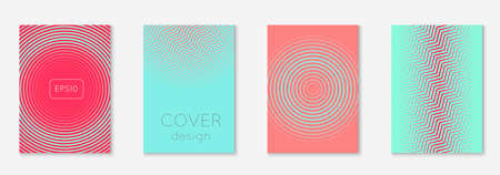 Poster design modern. Pink and turquoise. Colorful mobile screen, flyer, booklet, report layout. Poster design modern with minimalist geometric lines and shapes. Ilustracja