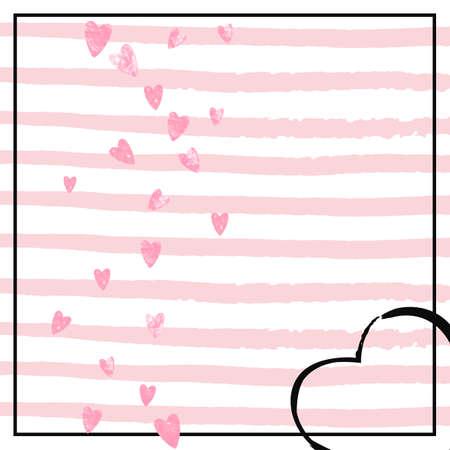 Heart Shimmer. Marriage Paint. Golden Party Concept. Celebration Particles. Rose December Starburst. Feminine Magazine. Stripe Festive Textile. Pink Heart Shimmer Stock Illustratie