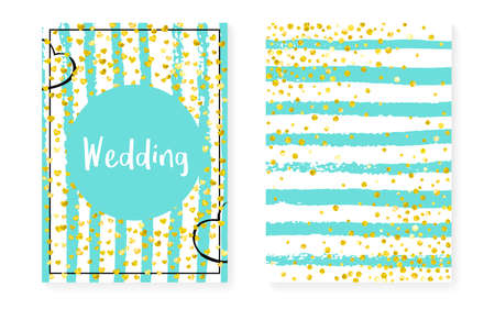 Elegant Template. Turquoise Rain Print. New Year Particles Set. Stripe Birthday Cover. Mint Effect. White Scatter Brochure. Premium Painting. Golden Elegant Template