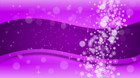 Snow frame with ultraviolet snowflakes. New Year backdrop. Winter border for flyer, gift card, party invite, retail offer and ad. Christmas trendy background. Holiday frosty banner with snow frame