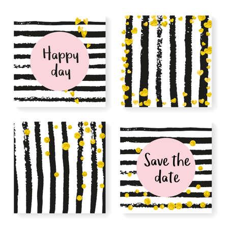 Valentine Banner Golden Trendy Frame. Stripe Birthday Design. White Dream Particle. New Year Wallpaper Set. Glittery Offer. Black Abstract Starburst. Golden Valentine Banner