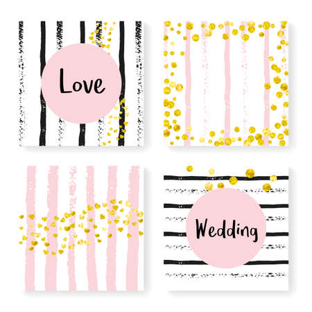 Love Backdrop. White Girly Illustration. Golden Glow Design. Mothers Card. Stripe Holiday Art. Black Birthday Wallpaper. Hand Drawn Particles Set. Golden Love Backdrop Stock Illustratie