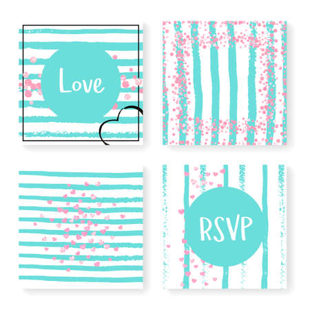 Gold Chic Backdrop Metallic Stardust Set. Turquoise Party Paint. White Invite. Stripe Rain Print. Mint Scatter Painting. Pink Glowing Concept. Pink Gold Chic Backdrop