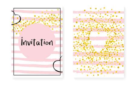Gold Chic Sparkle. Golden Stylish Design. Black Spray. Pink Retro Element. Stripe Holiday Textile. Handdrawn Magazine Set. Rose Glowing Starburst. Golden Gold Chic Sparkle