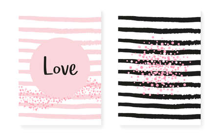 Polka Dot Confetti. Golden Polka Spray. Mothers Brochure. Scrapbook Starburst Set. White Abstract Particle. Pink Party Frame. Stripe Marriage Offer. Pink Polka Dot Confetti Illusztráció