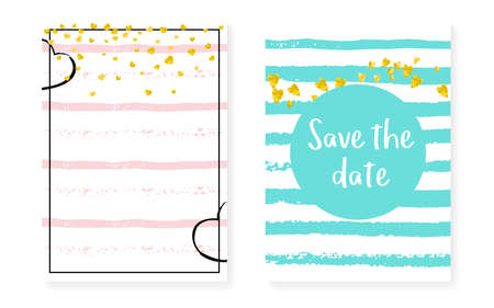 Modern Confetti. Golden Marriage Textile. Stripe