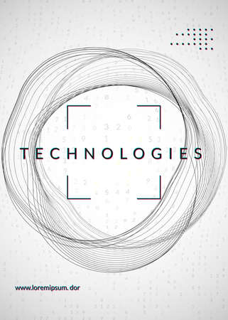Digital technology abstract background. Artificial intelligence,