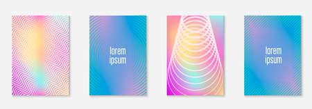 Line geometric elements on minimalist trendy cover template.