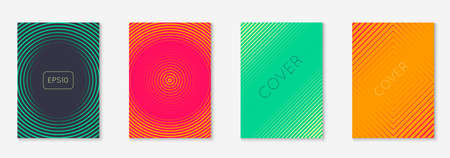 Music cover with minimalist geometric line and trendy shapes.