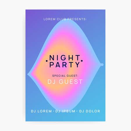 Poster for summer fest and music flyer. Illusztráció