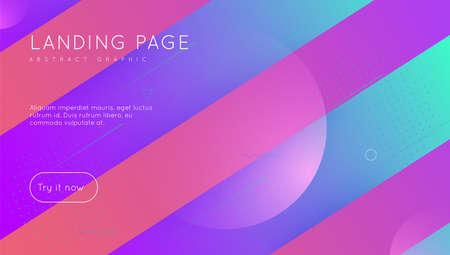 Geometric Design. Gradient Screen. Wavy Landing Page. Colorful P Illusztráció