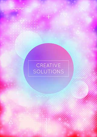 Purple cover with liquid neon shapes. Luminous fluid. Fluorescen Illustration