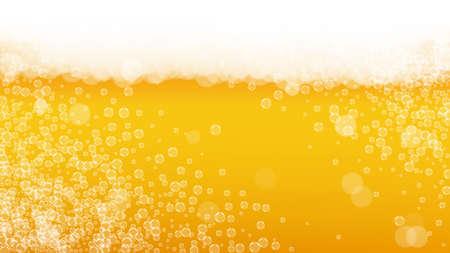 Splash beer. Background for craft lager. Oktoberfest foam.