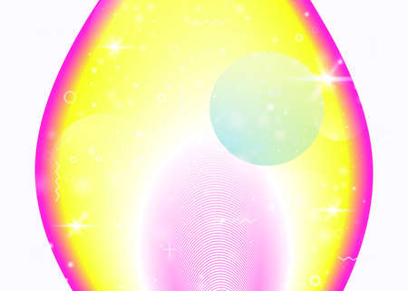 Hologram background with vibrant rainbow gradients. Dynamic flui