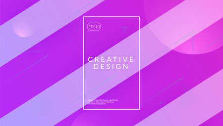 Abstract Layout. Tech Landing Page. Creative Composition. Color Illustration
