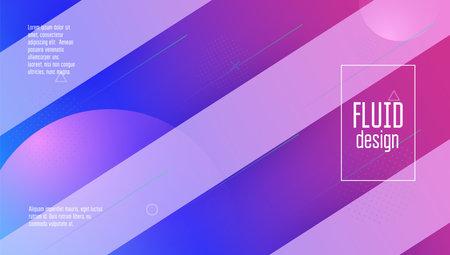 Fluid Design. Pink Vibrant Cover. Digital Shape. Business Backdr