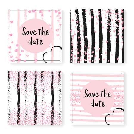Elegant Shimmer. Pink Festive Effect. Rose Rain Illustration