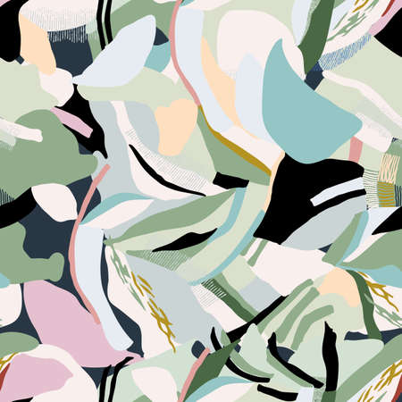 modern style Artistic abstract layers seamless repeat pattern