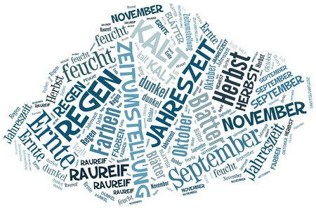 herbst: Tag Cloud  Herbst in Form einer Wolke Stock Photo
