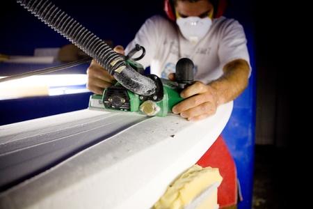 Surboard Shaping Фото со стока
