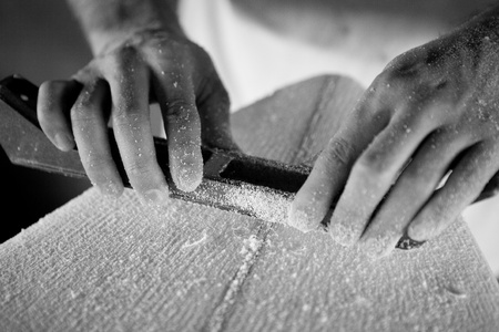 Surfboard shaping photo