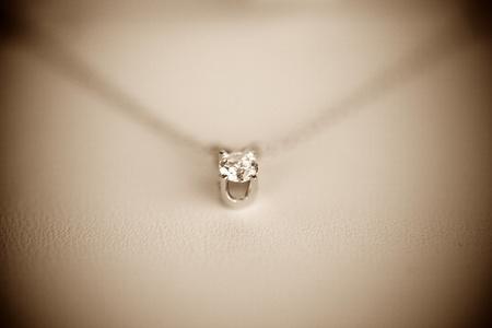 diamond necklace: Diamond necklace Stock Photo