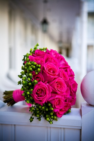 Pink wedding bouquet 版權商用圖片 - 9748476