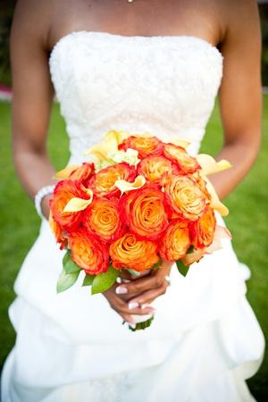 bridesmaid: Bouquet Stock Photo