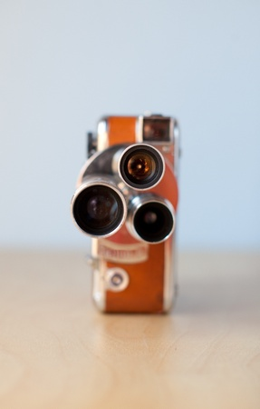 Vintage camera on simple background 版權商用圖片