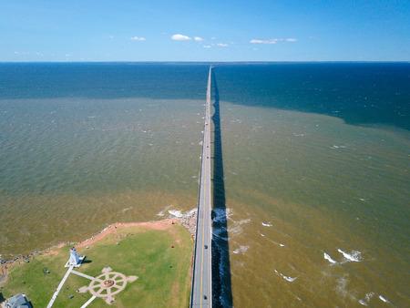 Aerial shot of longest bridge in the world Stock fotó