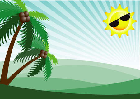 greenland: happy holiday on mountain greenland Illustration