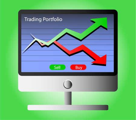 investor: business investor trading portfolio