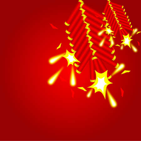 holiday celebrations: chinese cracker background and vector